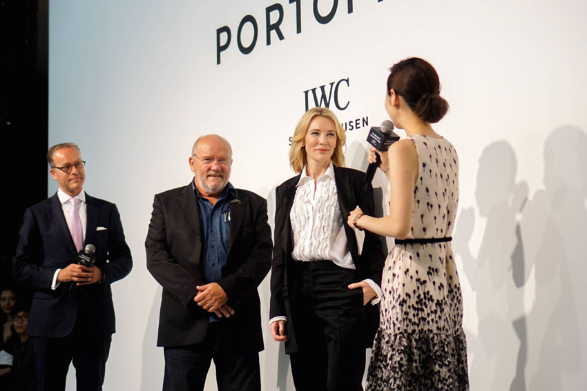 "Peter Lindbergh already worked with IWC four years ago for their previous Portofino collection and is happy to do it again this time around, capturing the beauty of IWC's Portofino midsize watches featuring Cate Blanchett, Emily Blunt, Ewan McGregor, Christopher Waltz and Zhou Xun. Where else would they shoot it but in Portofino, Italy, of course, where all the inspiration came from. ""From the park you have a staggering view over the bay of Portofino. My gaze takes in the artistically trimmed boxwood hedges, the elegantly laid-out gravel footpaths and walls that are centuries old. The magic of the place inspires me. It is the perfect backdrop for the new Portofino collection."" -Peter Lindbergh."