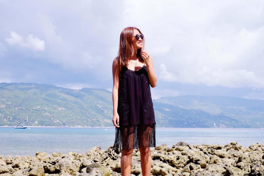 Black fringe dress 1