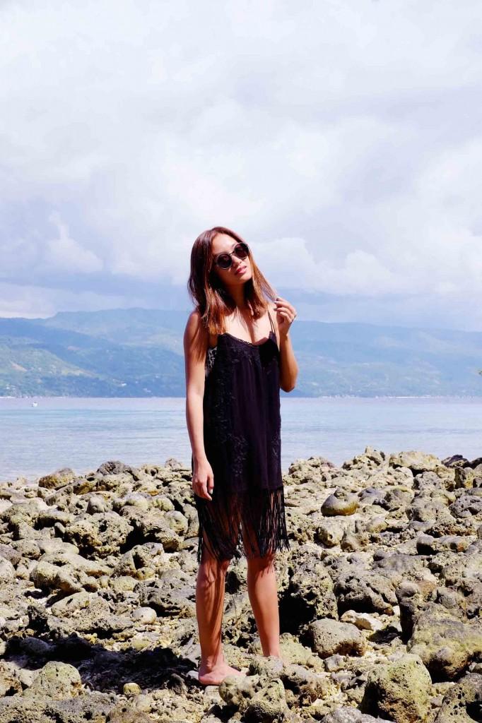 Black fringe dress 2