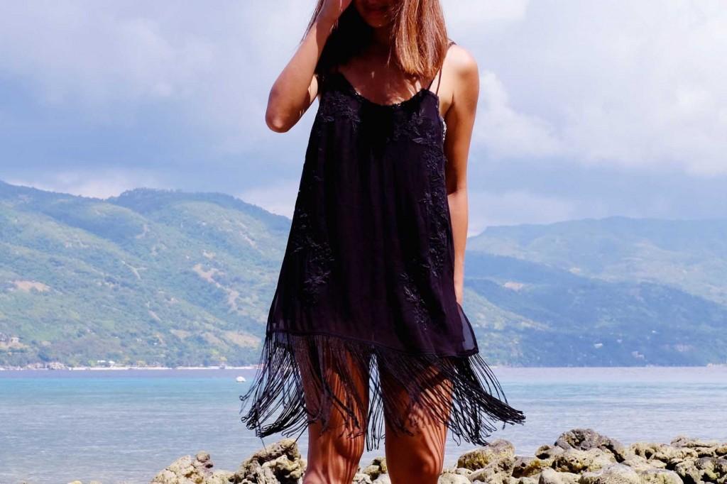 Black fringe dress 3
