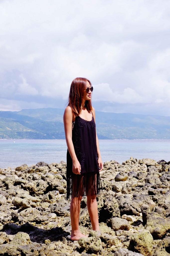 Black fringe dress 6