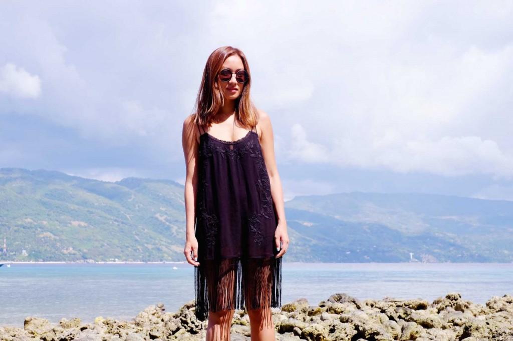 Black fringe dress 7