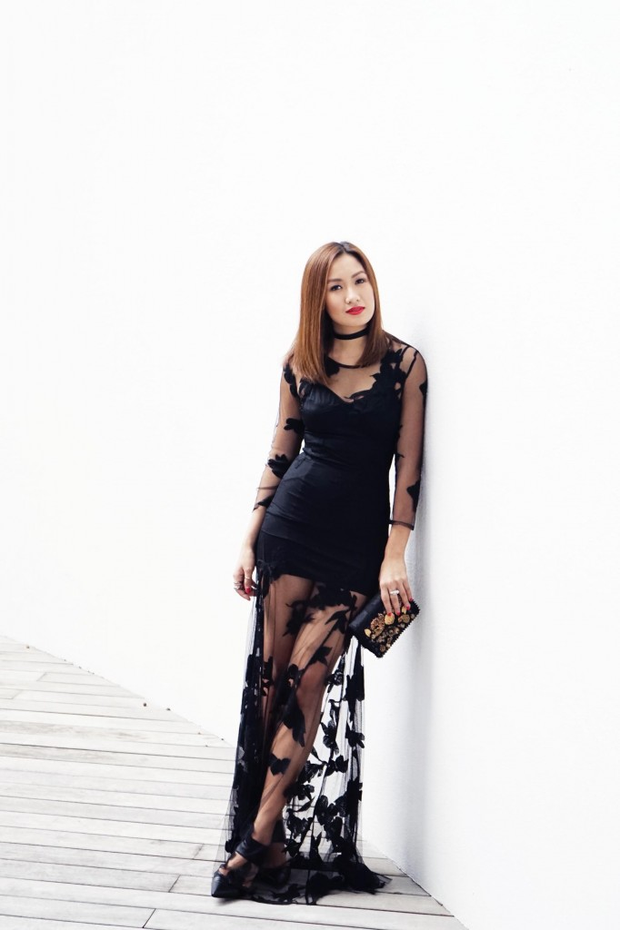 For Love and Lemons lace dress 2