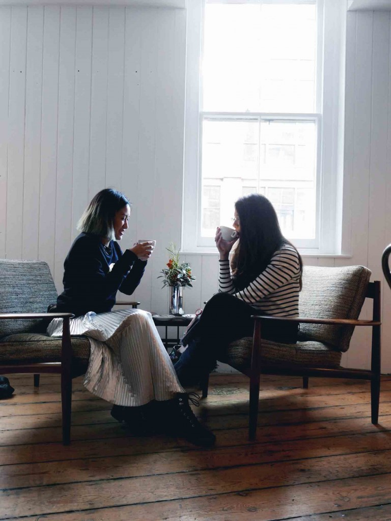 We went to a Workshop Coffee at Clerkenwell where we did our interview. Here I got to know Lucy better while drinking really good coffee. What a win-win situation!