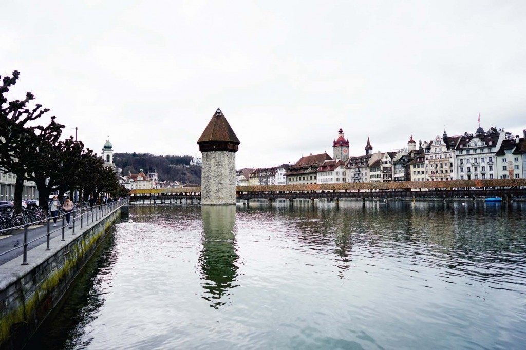 We were able to go around Lucerne for about an hour before going to the museum of transport. We saw the famous Kapellbrucke, the oldest covered wooden footbridge in Europe that's named after the nearby St. Peter's chapel.