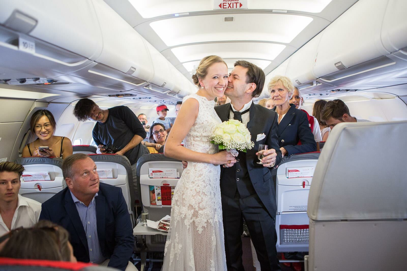Austrian Airlines wedding proposal